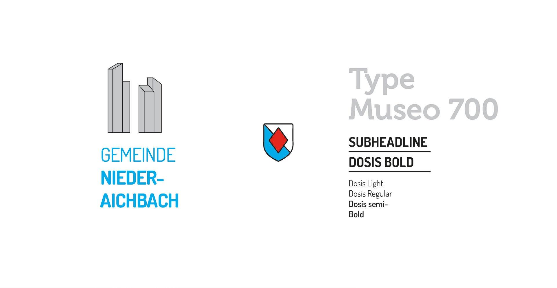 Gemeinde Niederaichbach – Typografie und Konzeptdesign Logo