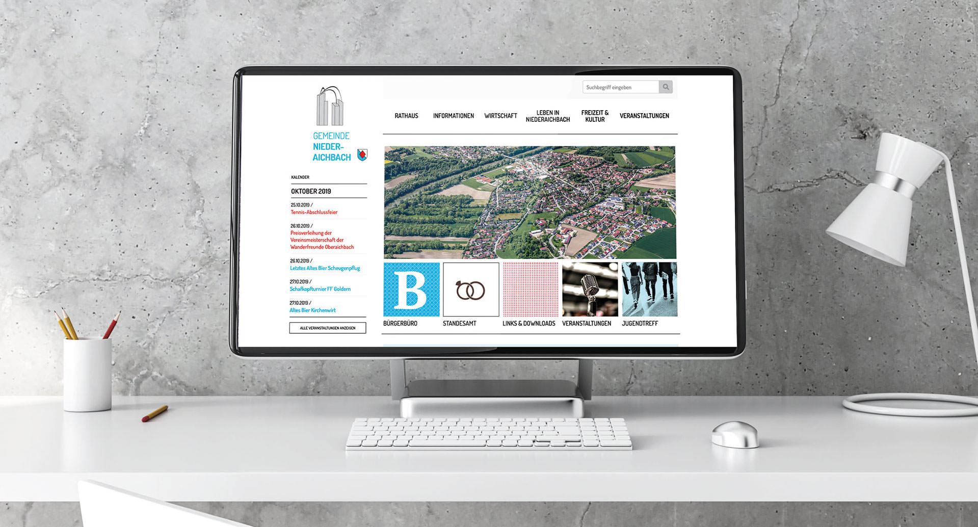 Gemeinde Niederaichbach – Webdesgin