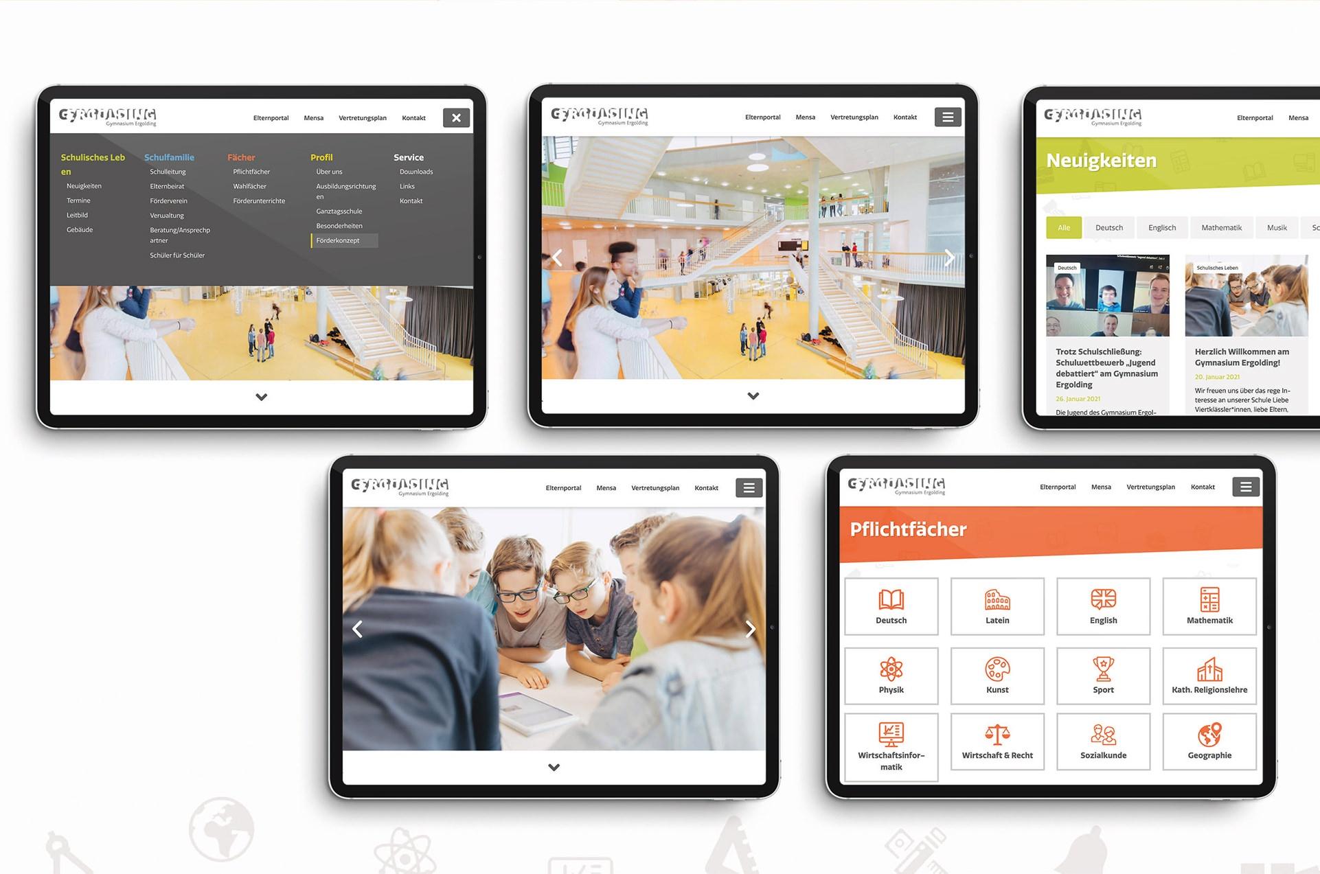 Gymnasium Ergolding Website