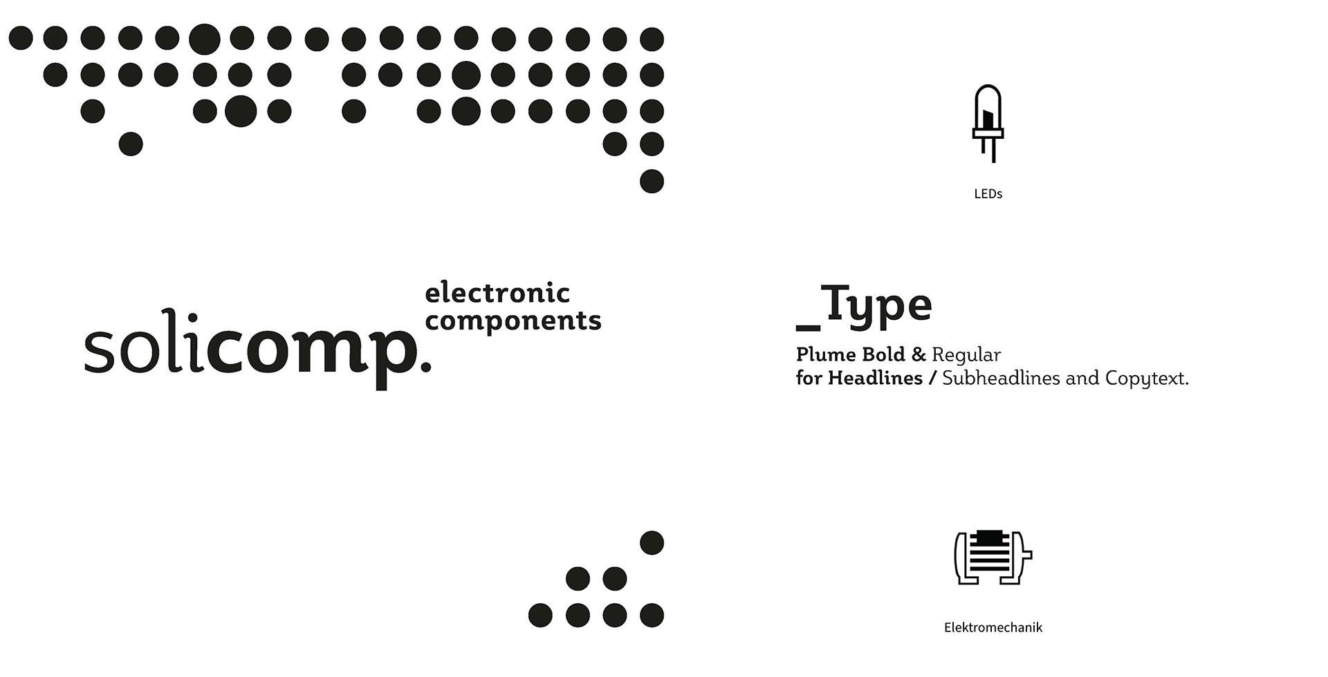Solicomp – Marke, Typografie und visuelle Findung