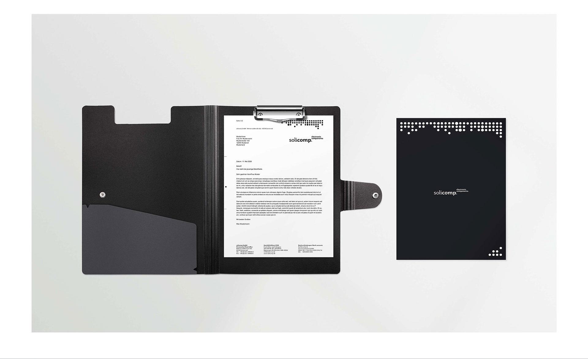 Solicomp – Markenkonzept und Printdesign